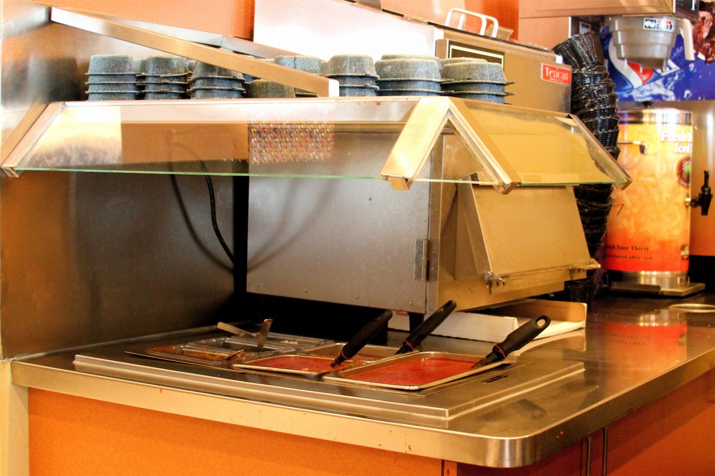 Restaurant Counter With Sneezeguard